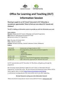 OLT Information Session flyer VIC (1)